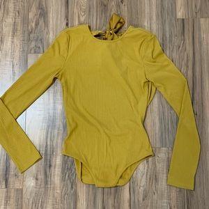 Women's mustard bodysuit size Medium